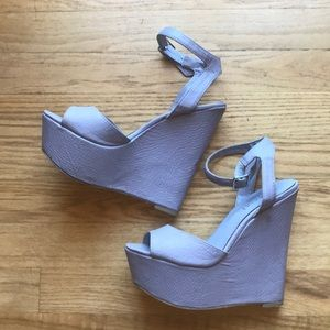 Shoe Cult by Nasty Gal Lavender Platform Wedges